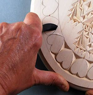Curved edge chip carving cuts carved chip carvings chip carving