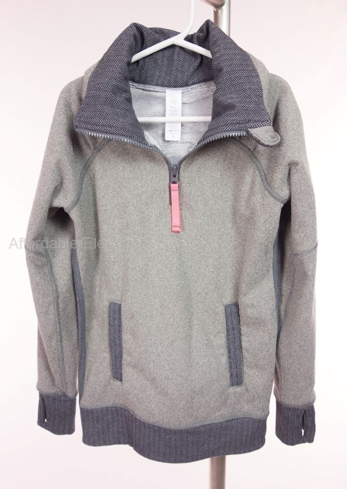 IVIVVA Girls Shiver Stopper Pullover 6 Gray 1/2 Zip Fleece Jacket ...