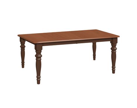 Premium Leg Table Daniel S Amish Collection Whiteacre 61 On Top