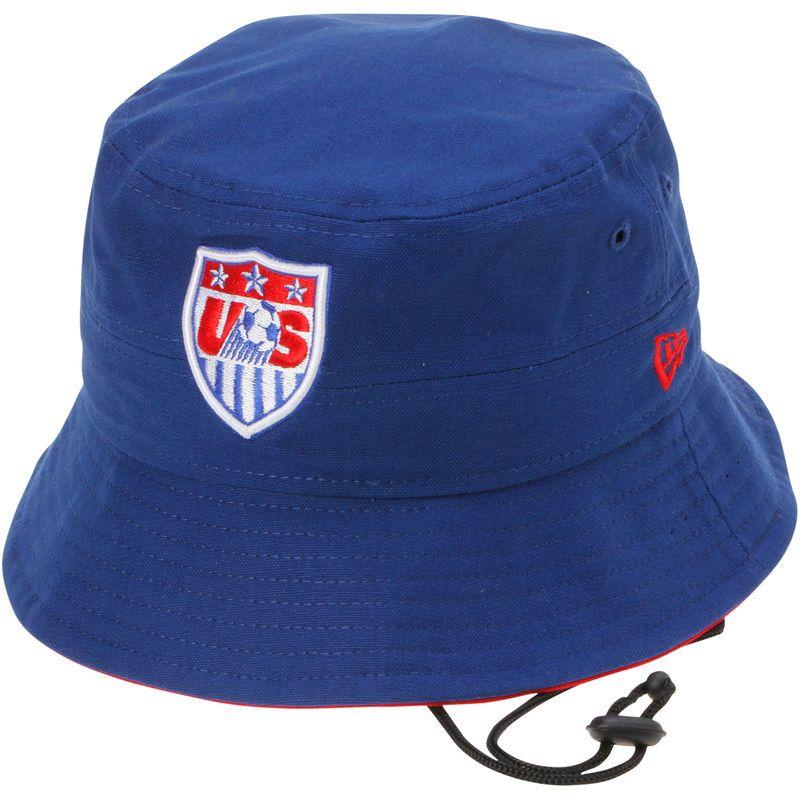 US Soccer New Era Cover Bucket Hat - Royal  e0b17fa15a40
