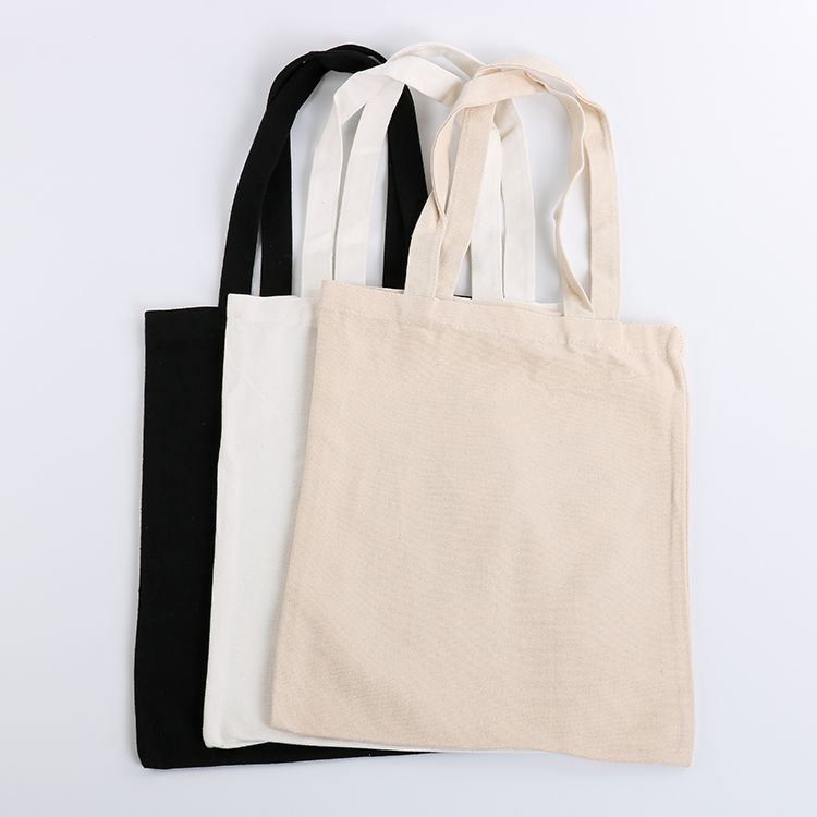 Wholesale Custom Logo Printing High Quality Blank Eco Recycled Organic Natural Cotton Canvas Tote Bags With Zipper And Pockets Canvas Bag Cotton Canvas Bags