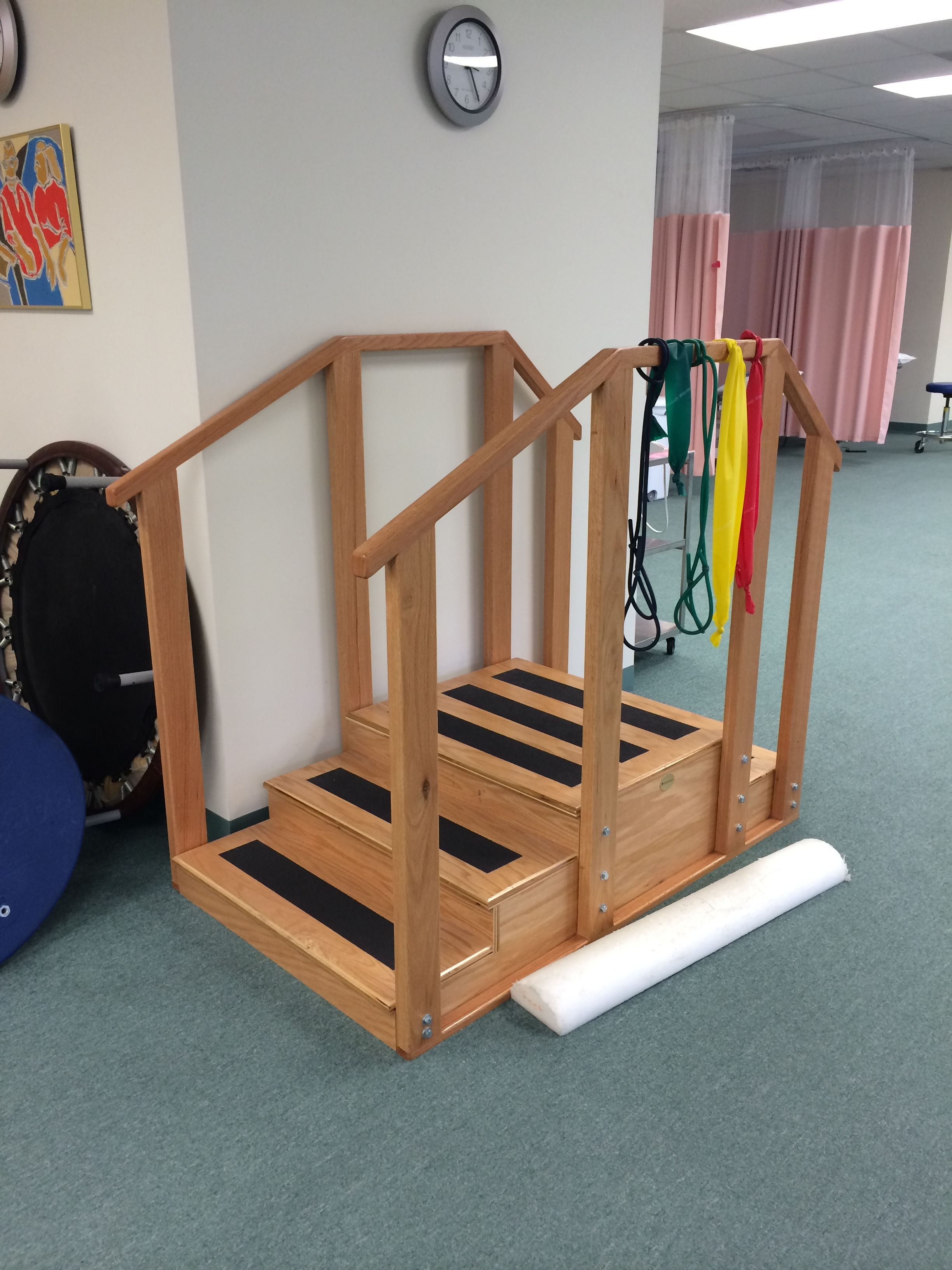 Physical therapy rehab/training stairs. Home decor