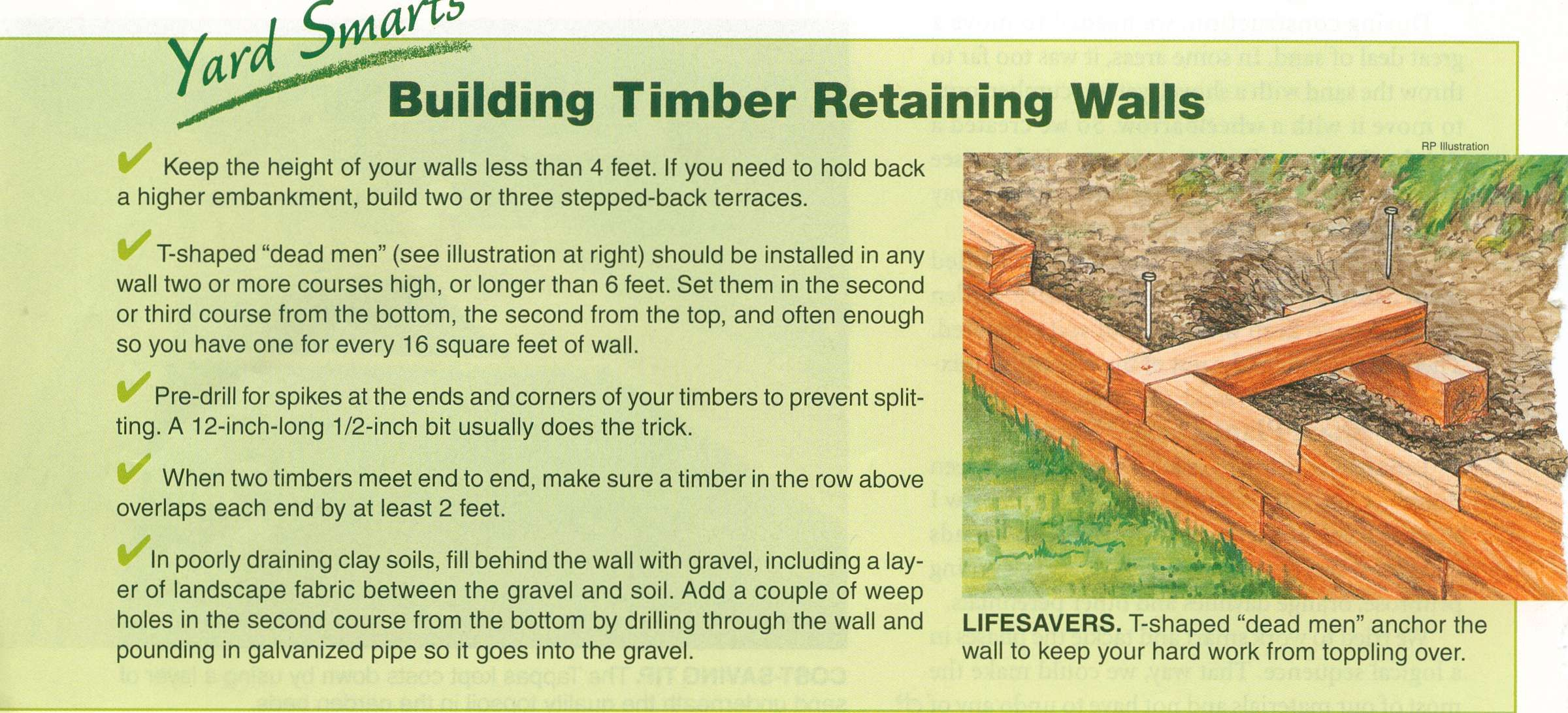 Building a timber retaining wall | Gardening | Pinterest | Retaining ...