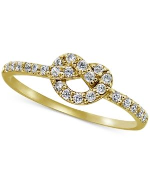 9eb3f59526c69 Giani Bernini Cubic Zirconia Knot Ring in 18k Gold-Plated Sterling ...
