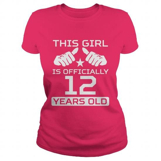 5100dd4a1790 THIS GIRL IS OFFICIALLY 12 YEARS OLD FUNNY 12TH BIRTHDAY TEES