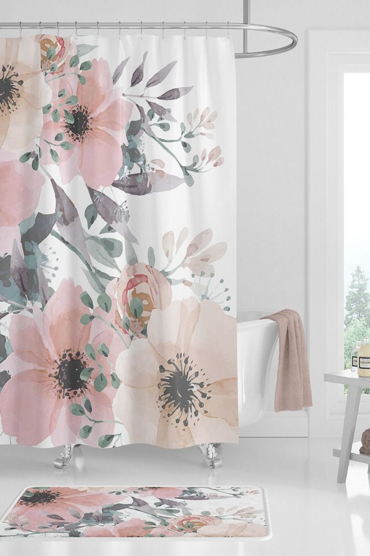 Shower Curtain Sets Floral Bathroom Design Create Your Own Set
