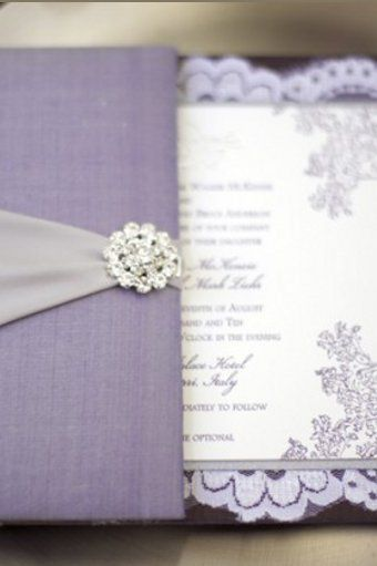Royal Purple Lavender Wedding Invitations