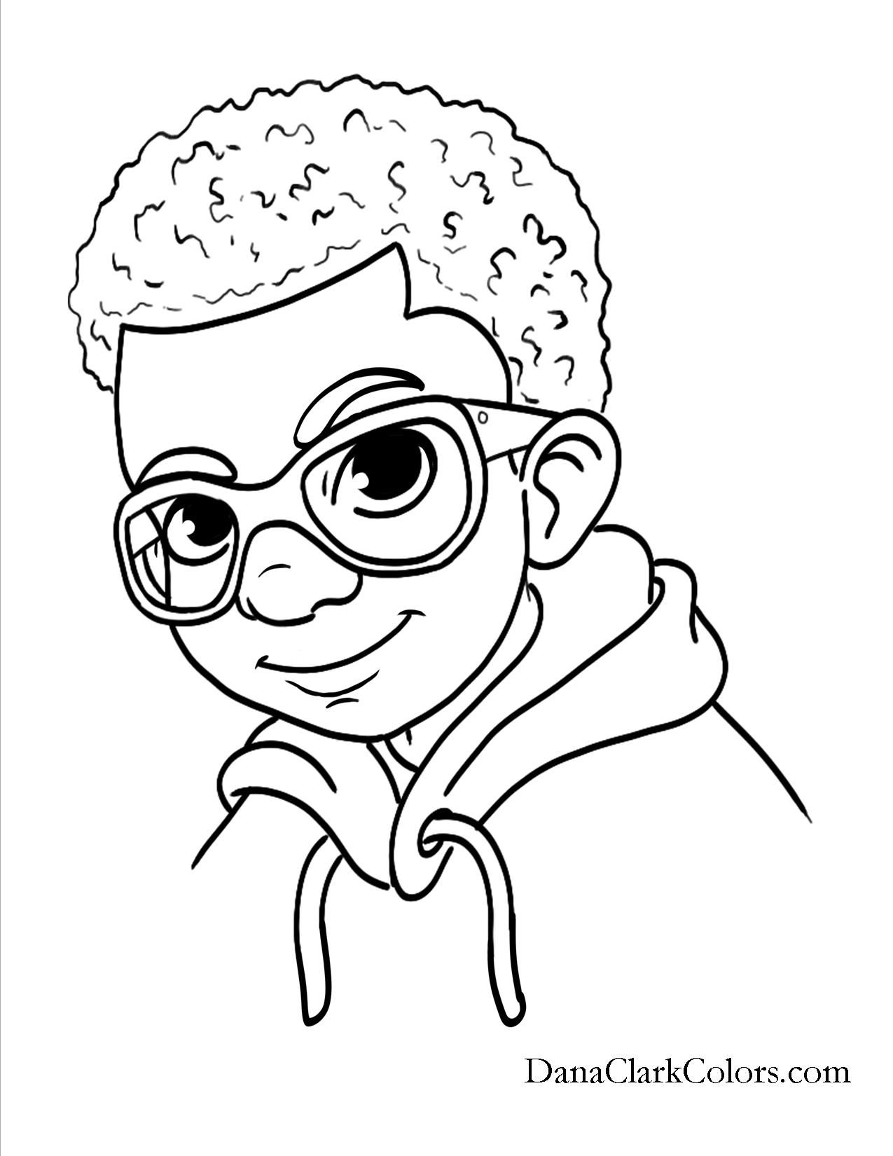 african american kids coloring pages - photo#1