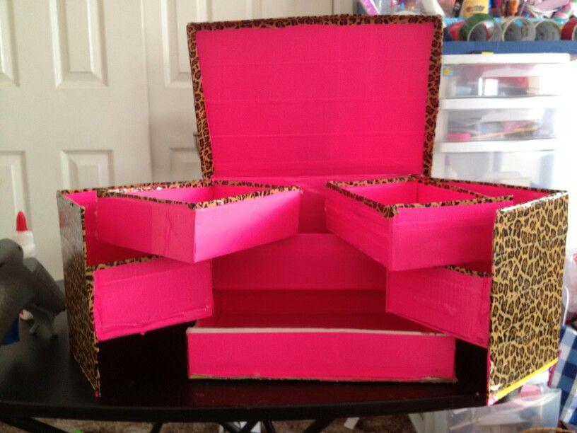 Cardboard Box Diy Storage Box Diy Storage Boxes Diy Makeup