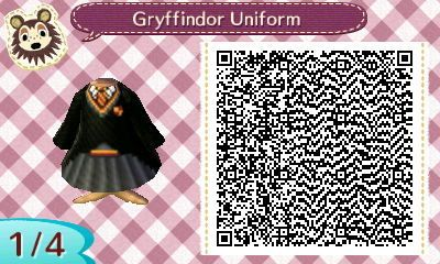 Fraiseberry In Ac New Leaf Hogwarts Town Gryffindor Uniform By Lei Animal Crossing Animal Crossing 3ds Animal Crossing Qr Codes Clothes