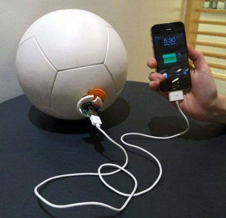 Whoa! This Soccket soccer ball generates enough energy to charge a cell phone. The future is here.