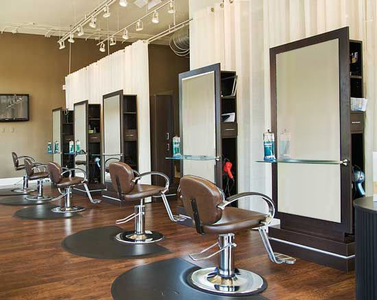 Decorating Simple Hair Salon Design Ideas And Wooden Floor Plans