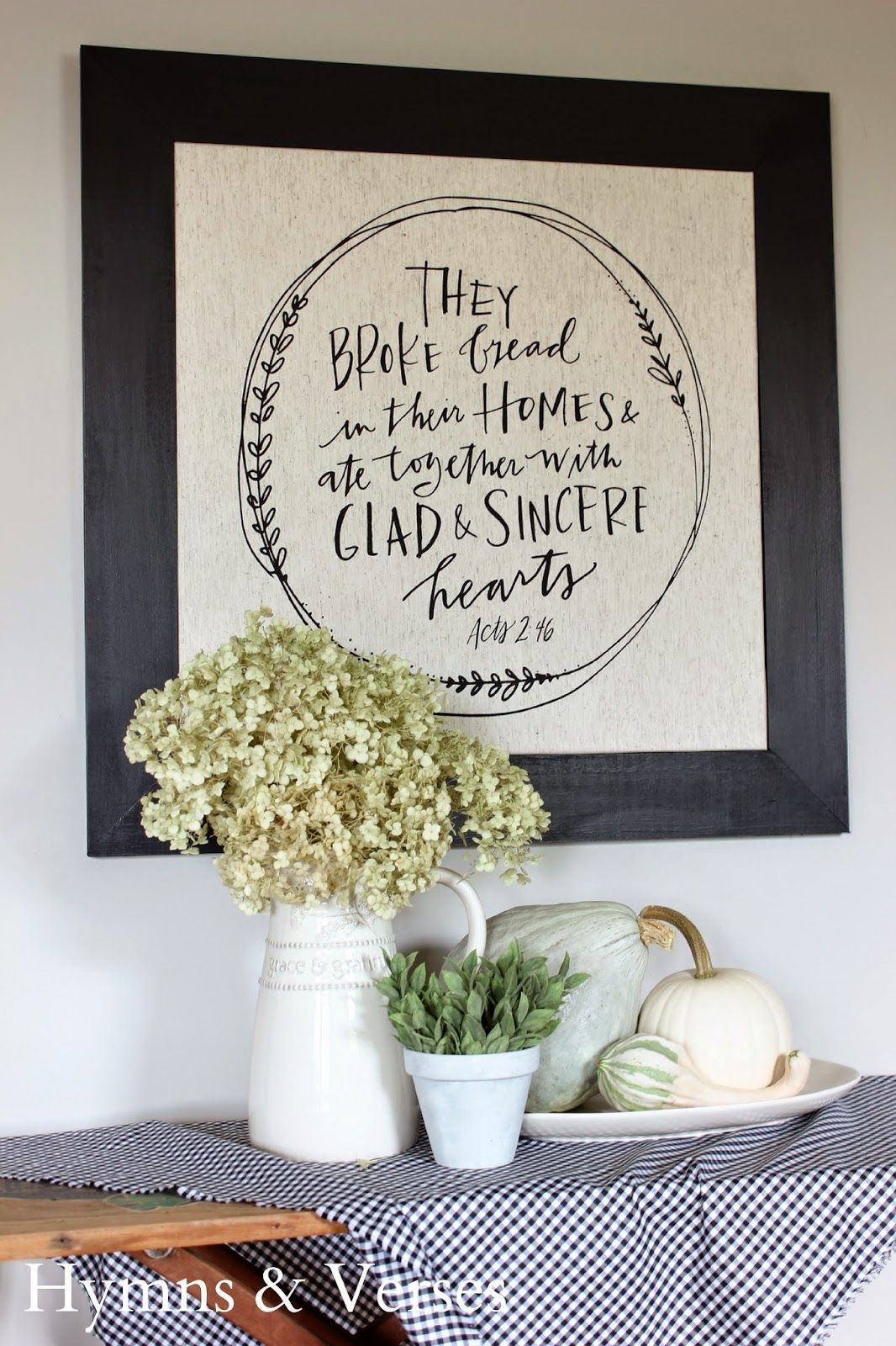 Like This Verse For The Dining Room Acts Framed Tea Towel Grace Gratitude Pitcher And Platter