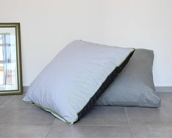 Floor Pillow Cover Floor Cushion Seating Cushion Stripes Etsy Floor Pillows Large Floor Pillows Floor Cushions