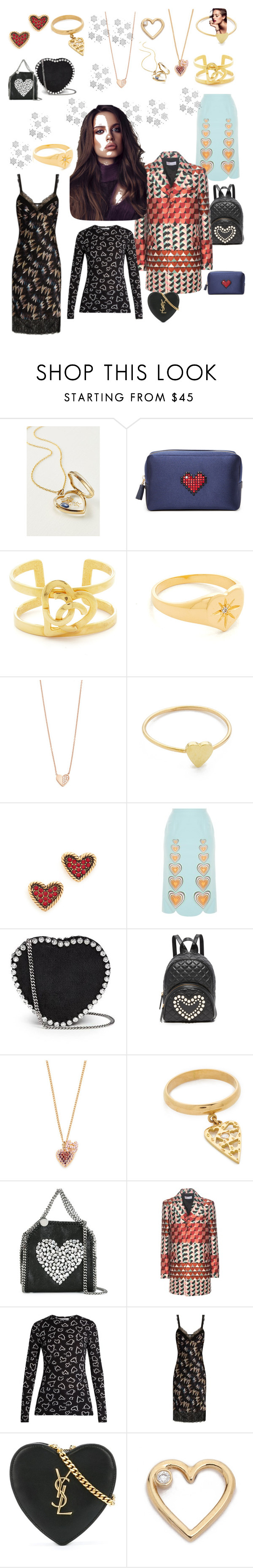 """""""Heart in Everything!"""" by lalu-papa ❤ liked on Polyvore featuring Loquet, Anya Hindmarch, Jacquie Aiche, Ariel Gordon, Jennifer Meyer Jewelry, Marc Jacobs, Christopher Kane, STELLA McCARTNEY, Boutique Moschino and Natasha Zinko"""