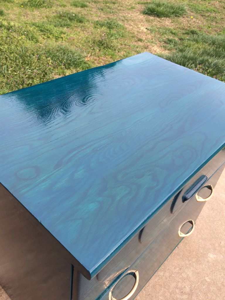 Unicorn Spit Blue Thunder Mixed With Dragonsbelly Repurposed Furniture Wood Making