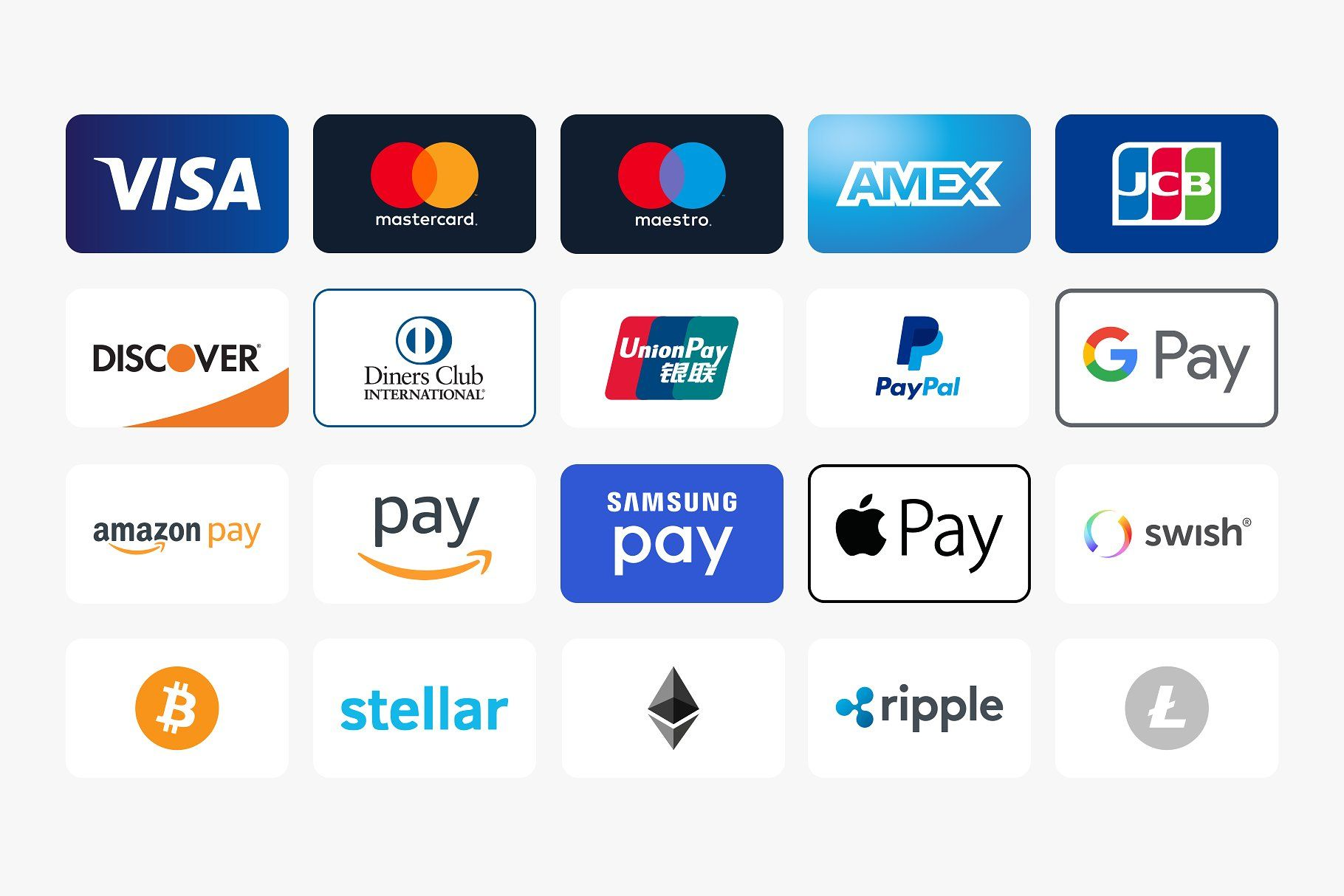 Modern Payment Method Icons #Included#Payment#Physical#method