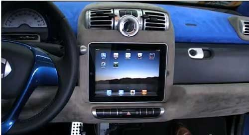 Mercedes Benz Owned Smart Car Custom Dash Kit With Ipad
