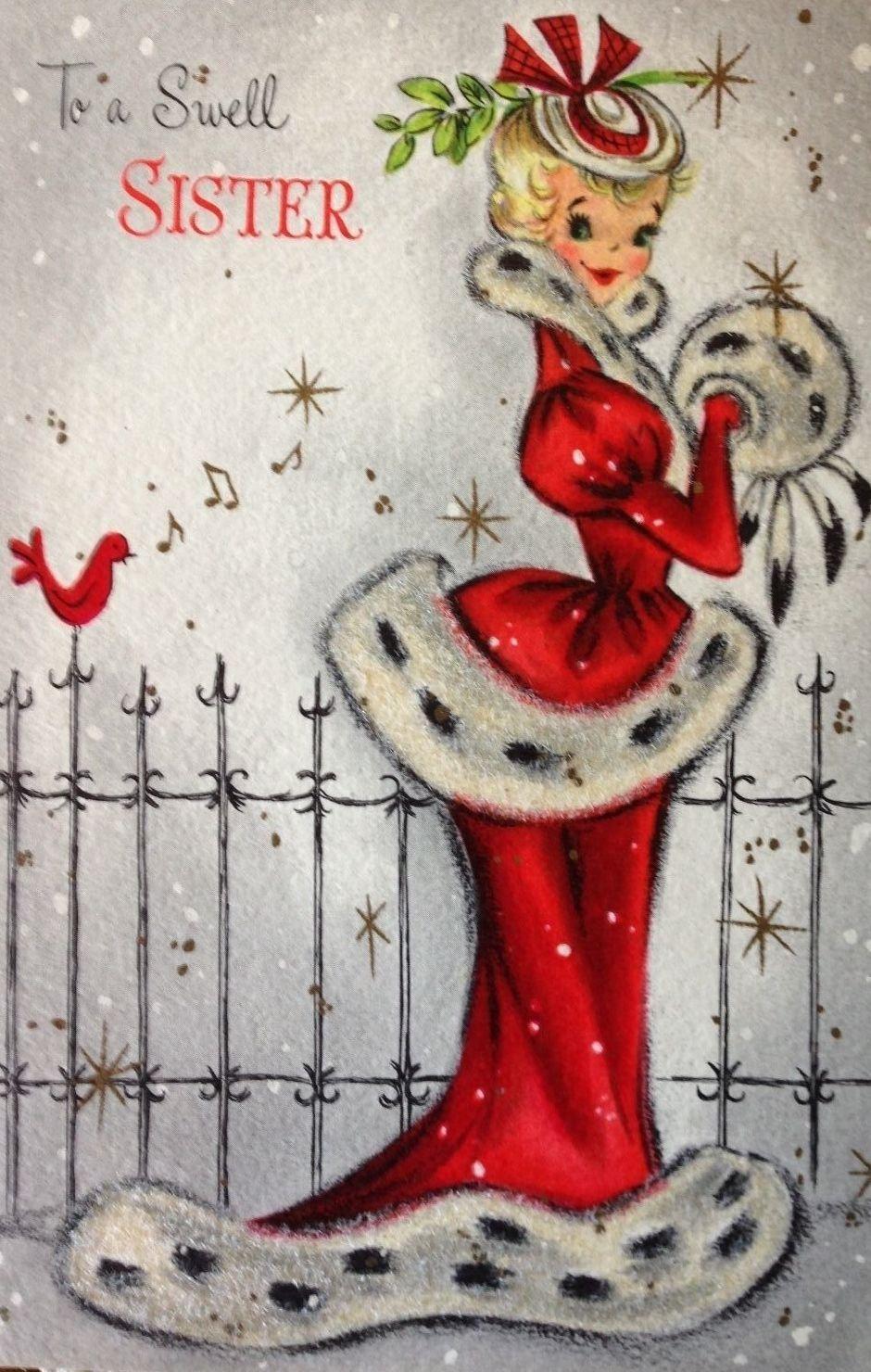Vintage Christmas Card Vintage Cards Pinterest Vintage