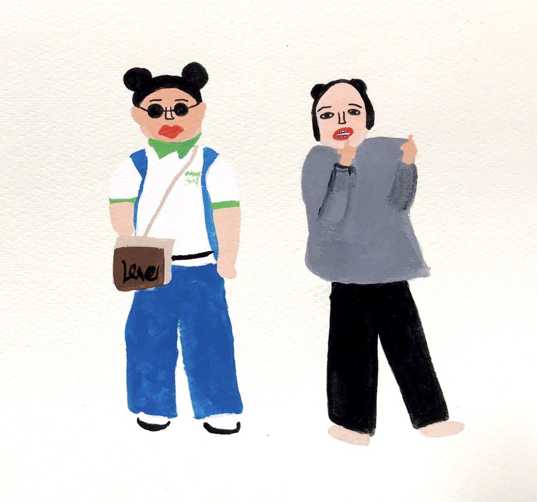 最近女芸人ばかり描いてる 笑 でも渡辺直美とユリアン好き Illustrator Illustration 女芸人 渡辺直美 ゆりあんレトリィバァ ぽちゃかわ 渡辺直美 渡辺 笑