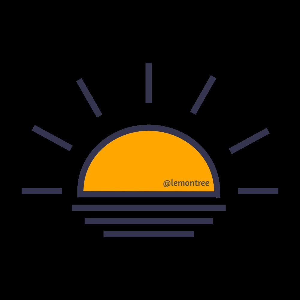 Sunset Sunrise Icon 1000px X 1000px
