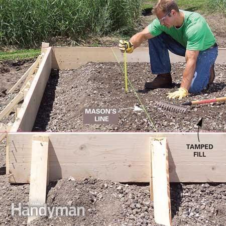 Form and pour a concrete slab concrete slab concrete for How to pour a concrete slab for a garage