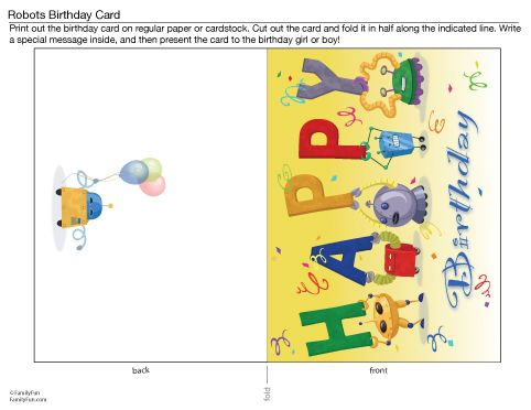 Printable Birthday Cards For Kids