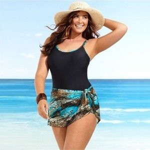 29514a0d8e4 Tips To Look Flattering In A Plus Size Bathing Suit! Wrap a short sexy  sarong for coverage.
