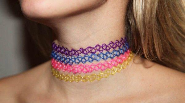 fabriquer un collier ras de cou effet tatouage