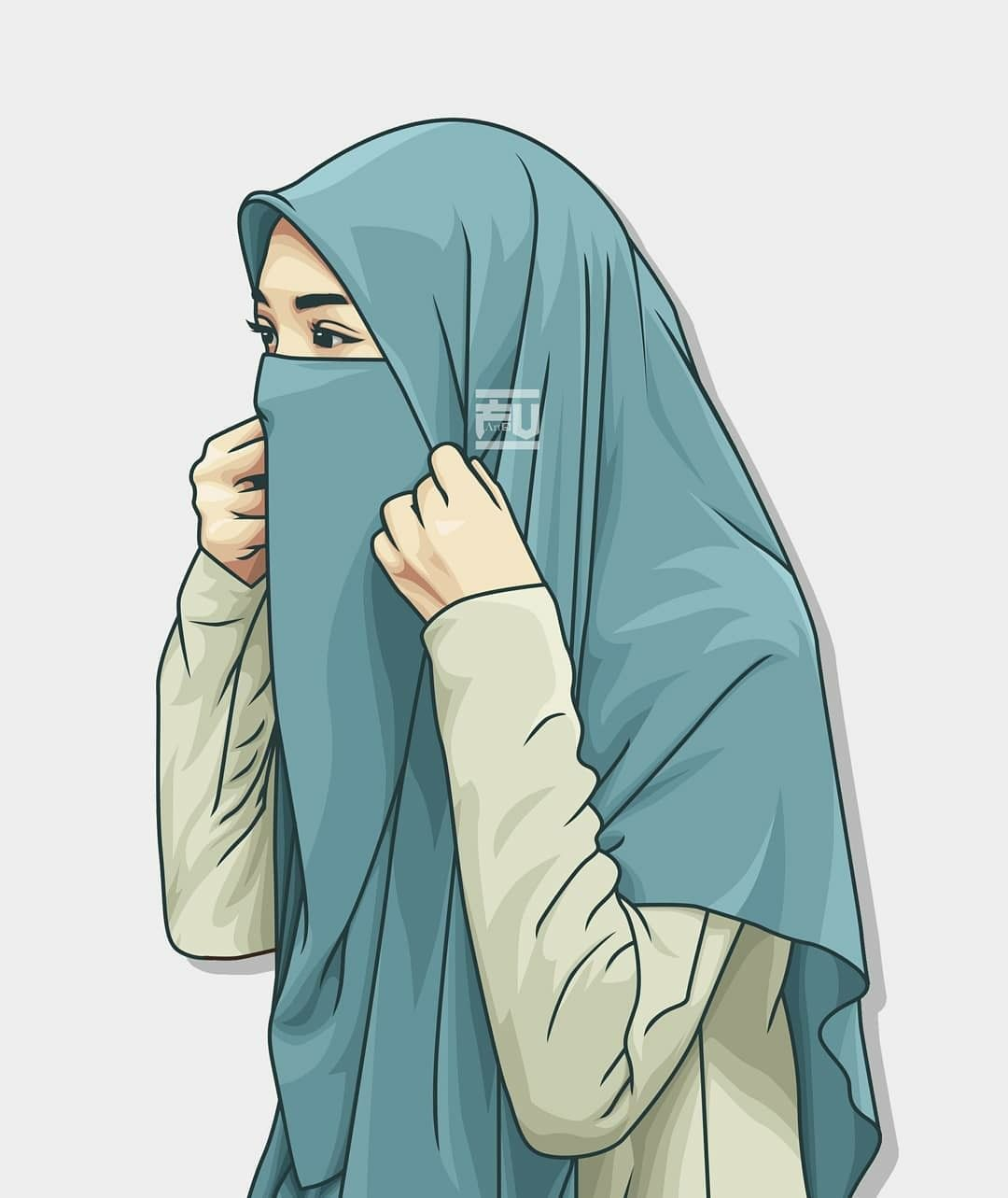 Pin By Raw Organics Co On Artwork Hijab Cartoon Anime Muslimah Hijab Drawing