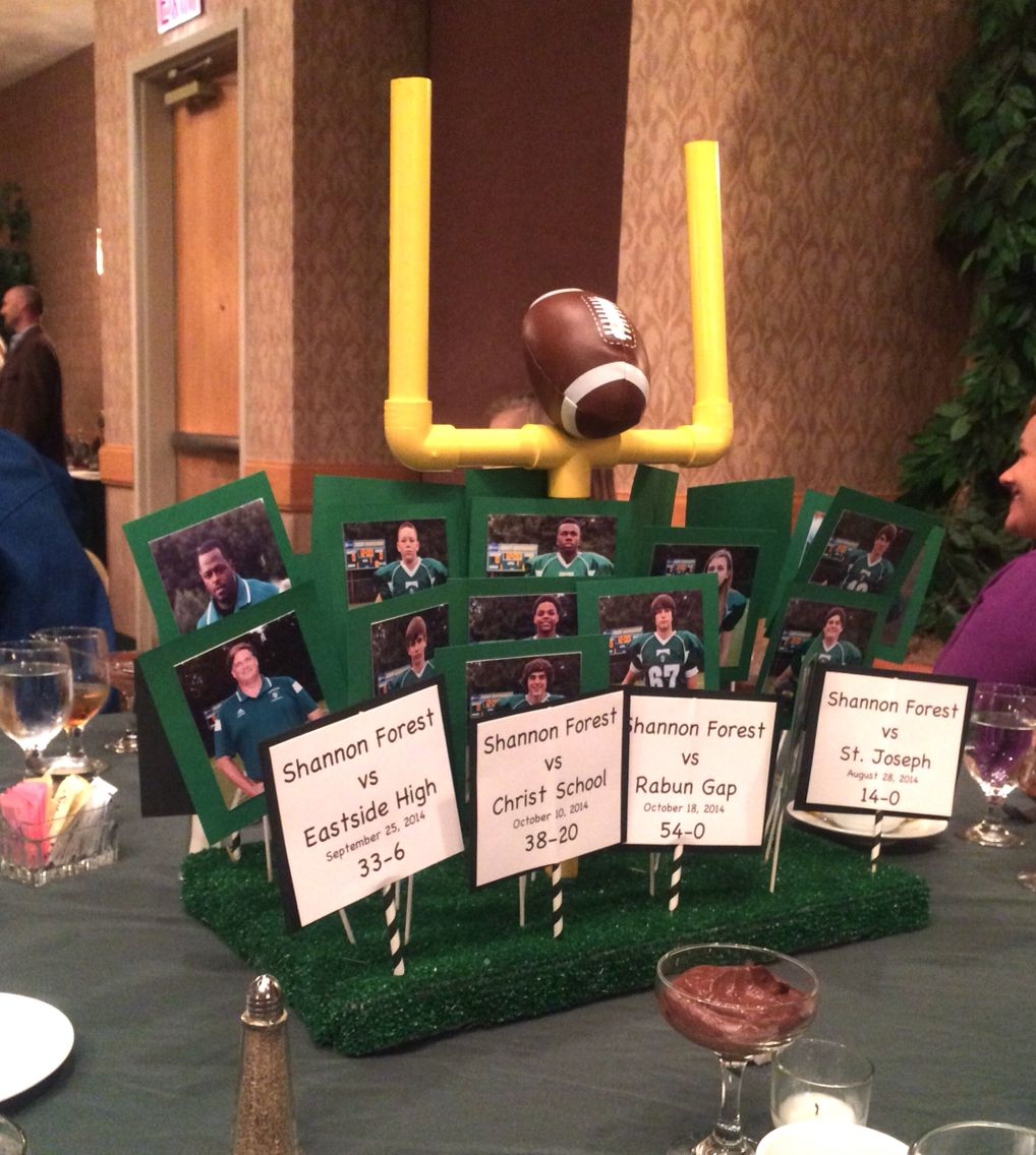 High school football banquet centerpieces