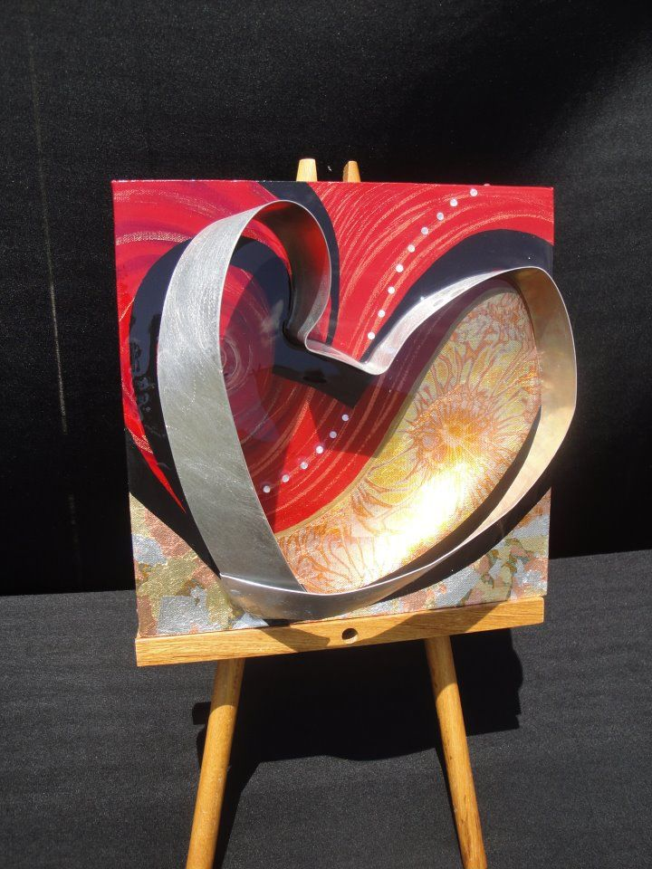 """Infinite LOVE""     Artist Tyra Goodley     12x12 Mixed Media on Canvas"