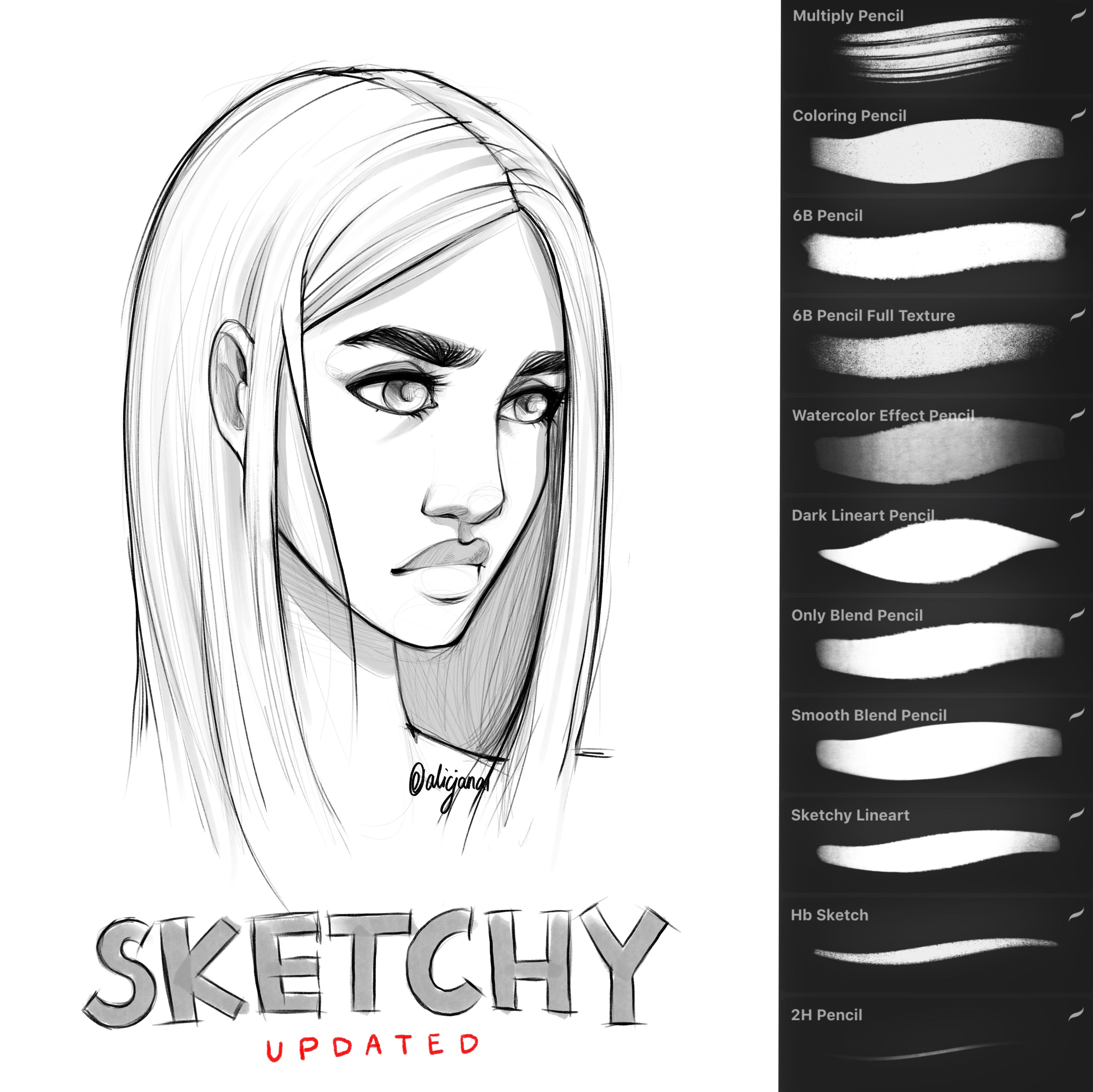 Sketchy Brush Set For Procreate Procreate Brushes Free Procreate Brushes Procreate