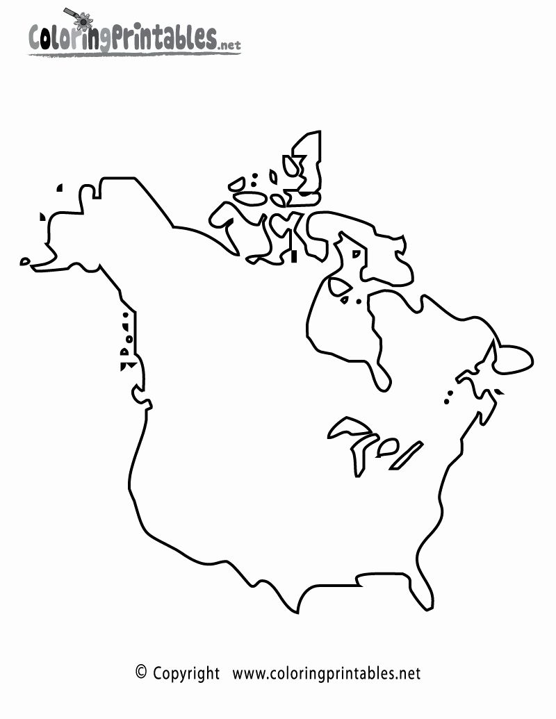 North America Coloring Page Lovely North America Map Coloring Page A Free Travel Coloring Color World Map America Outline Europe Map