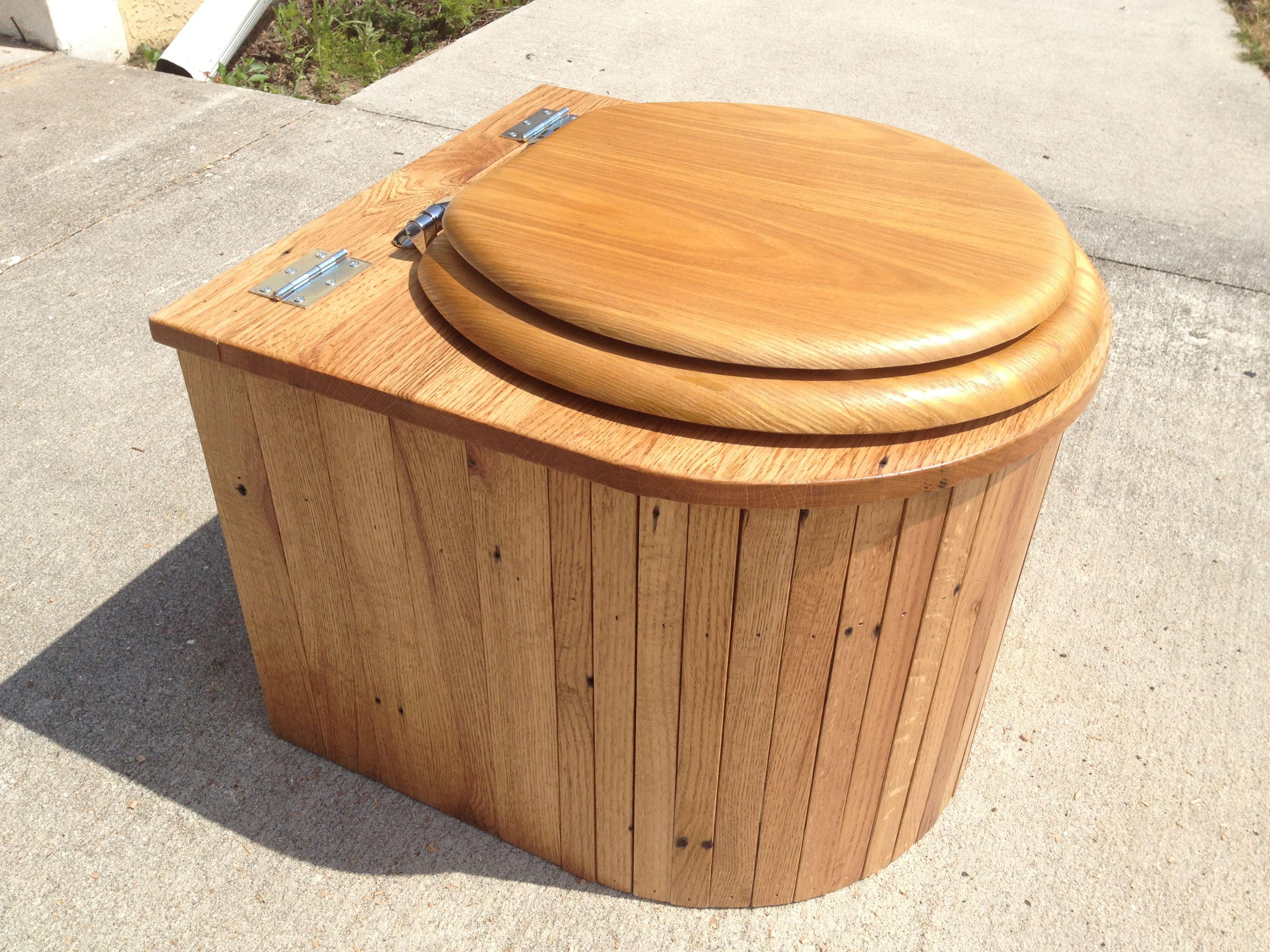 Build composting toilet astonishing design oak wood