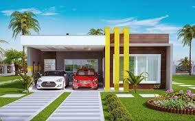 Resultado de imagen para projeto arquitetonico de casas planta baixa 3 quartos