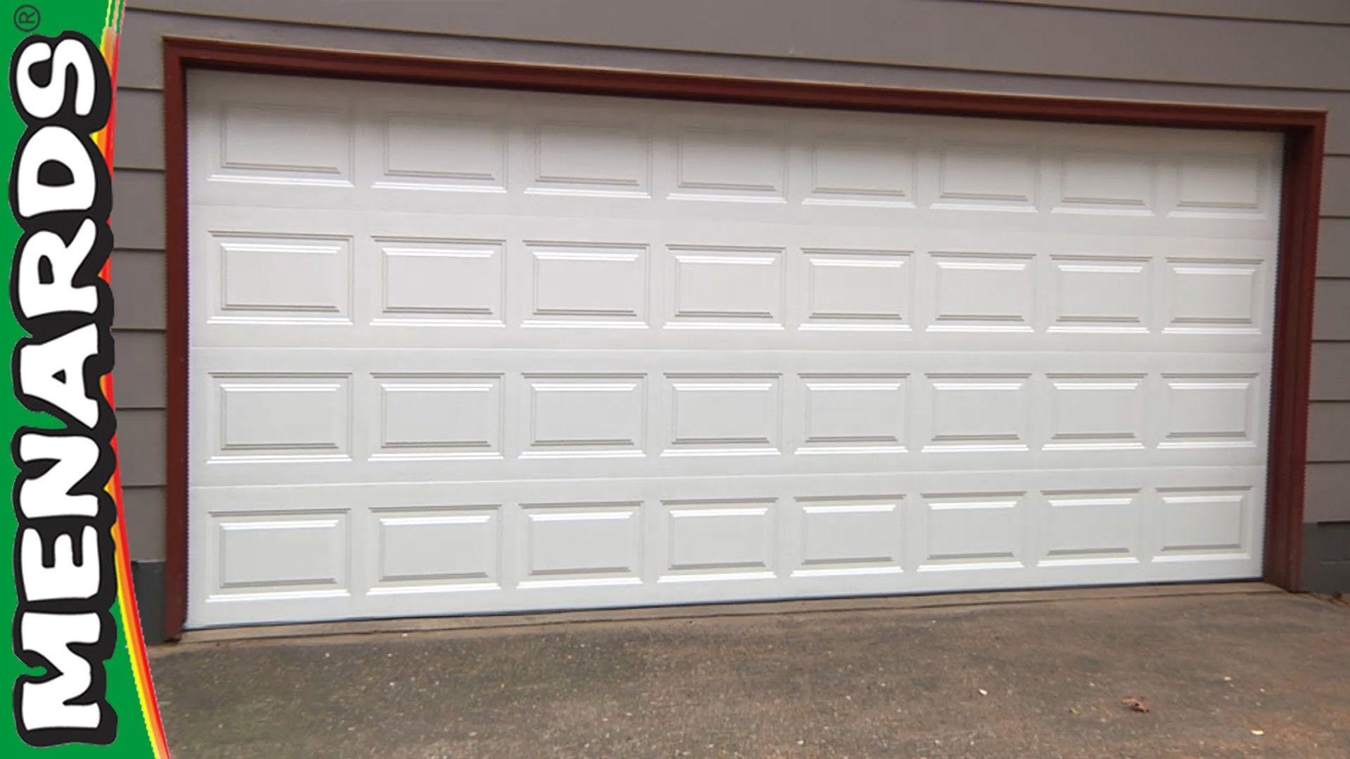 Garage Door How To Install Menards Garage Door Replacement