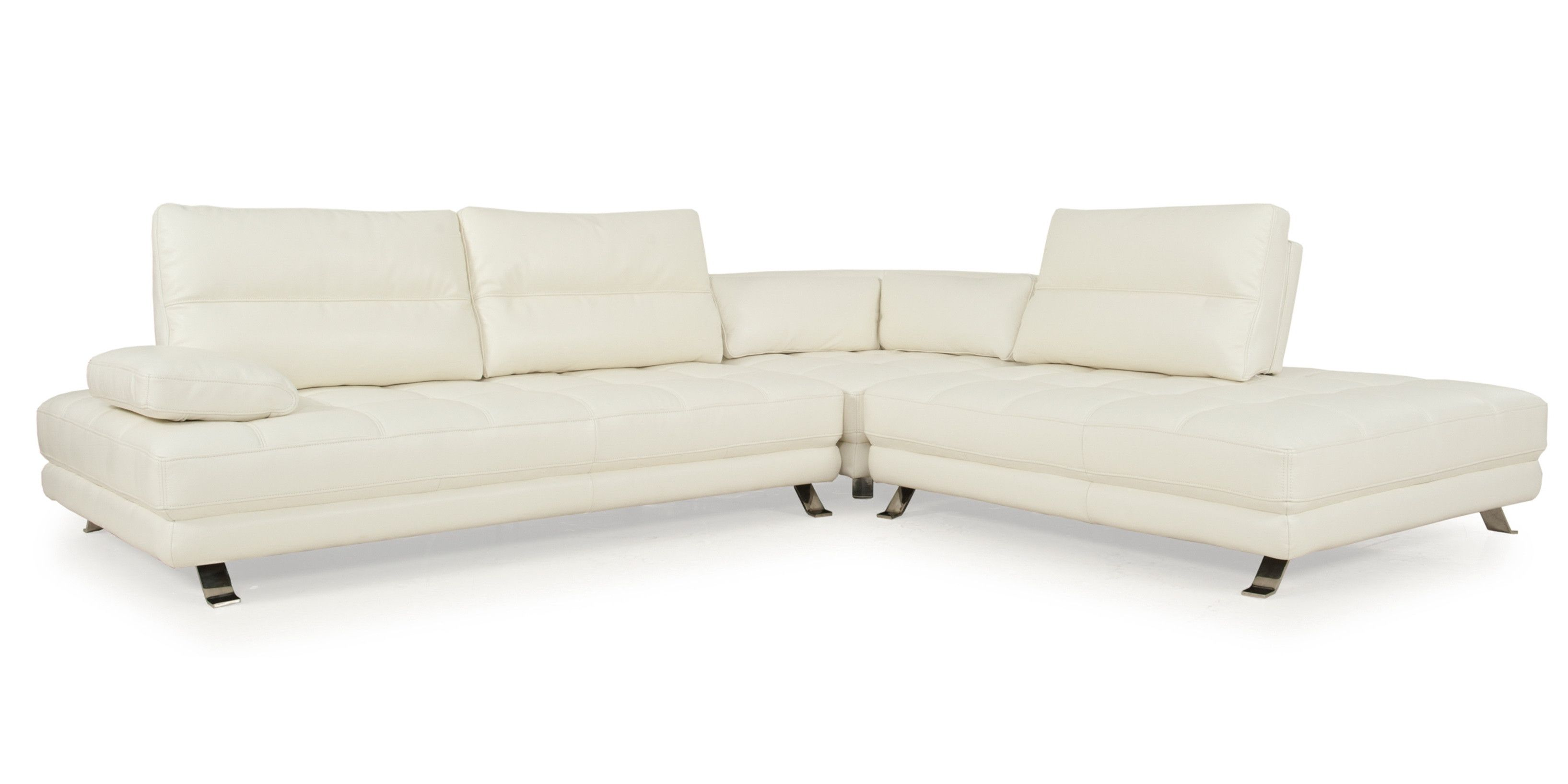 Teva Full Top Grain Leather Adjustable Contemporary Sectional
