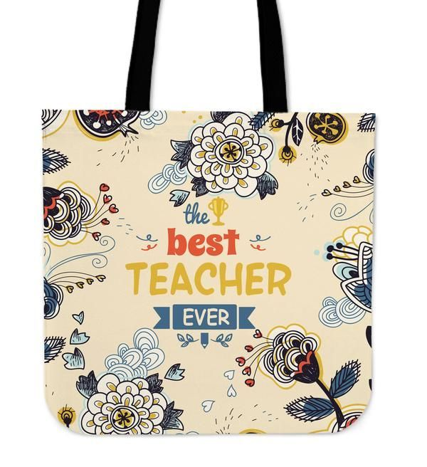 Grateful Teacher Linen Tote Bag Teacher Award Linen Tote Bag