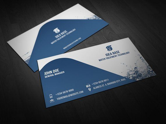 Printable Water Technology Business Card