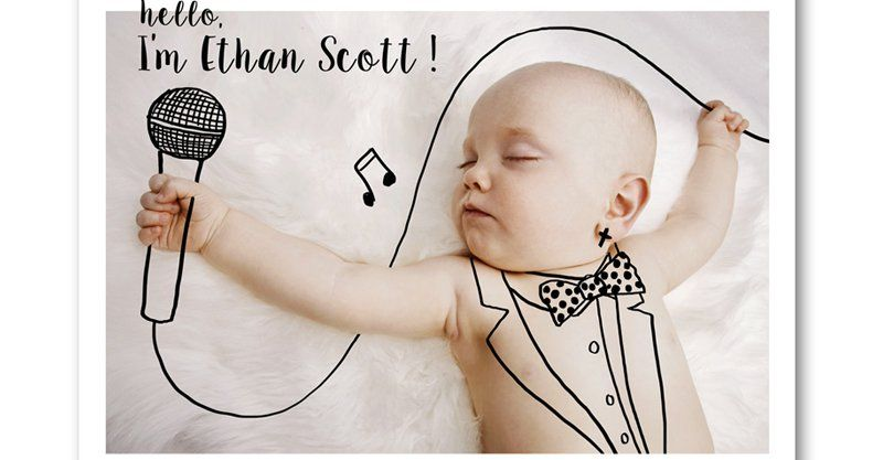 Etsy find of the day - personalised birth announcement card #BirthAnnouncements, #Etsy, #Newborn, #Printables