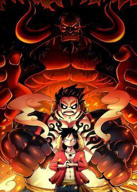 Metal Poster Luffy