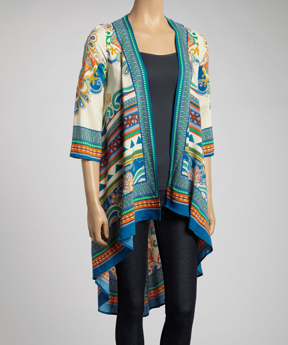 Take a look at this flying tomato cream stripe open cardigan on