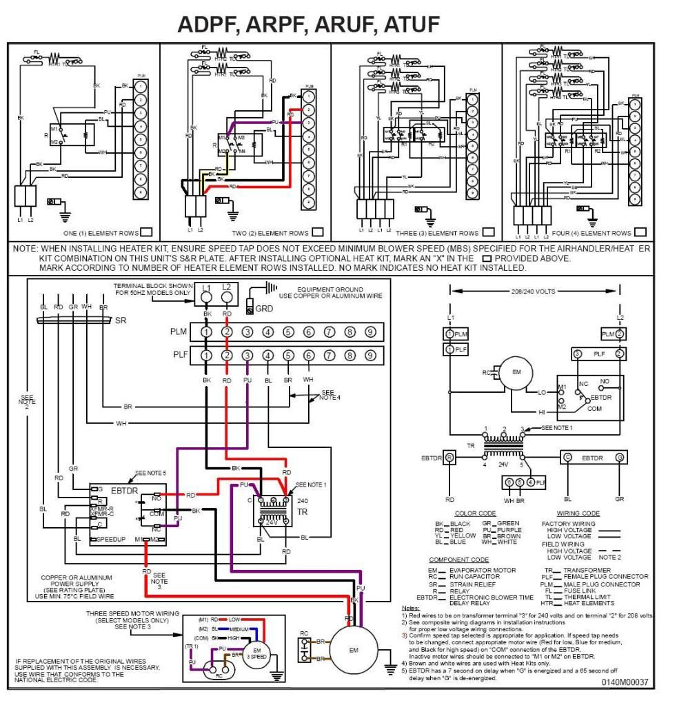 diagram Thermostat wiring, Goodman heat pump, Heat pump