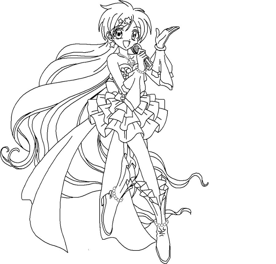 idol anime coloring page  Google Search  Anime coloring pages