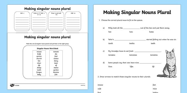 Rhythm Math Worksheets Word Making Singular Nouns Plural Activity Sheet Differentiated  Free Subtraction Worksheets For 1st Grade Excel with Social Work Worksheets Word Making Singular Nouns Plural Activity Sheet Differentiated  Singular  Worksheet Happiness Trap Worksheets Pdf