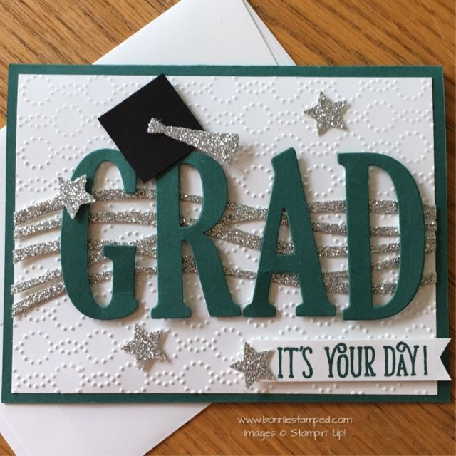 Graduation Card Ideas To Make Part - 43: Swirly Scribbles Thinlits And Large Letters Framelits Graduation Card