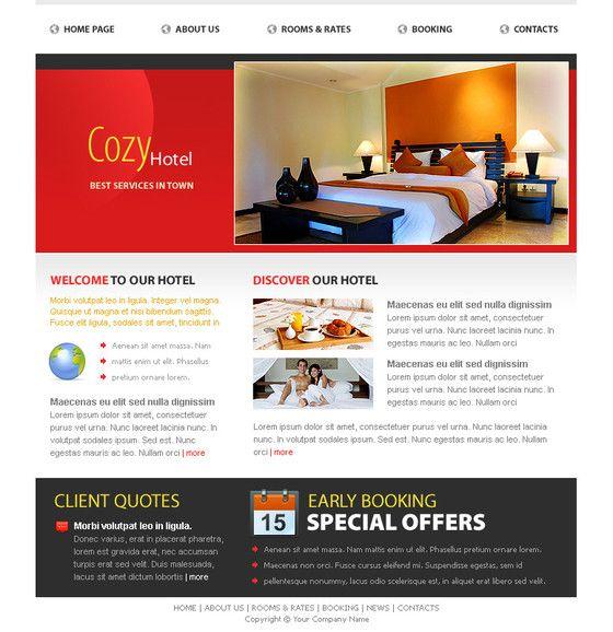 Cozy Hotel Website Template   Free Hotel HTML Templates   Pinterest ...