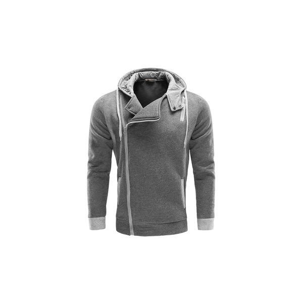 7119371789 Mens Casual Side Zipper Sweatshirts Solid Color Outdoor Sports Cotton...  ( 26) ❤ liked on Polyvore featuring men s fashion