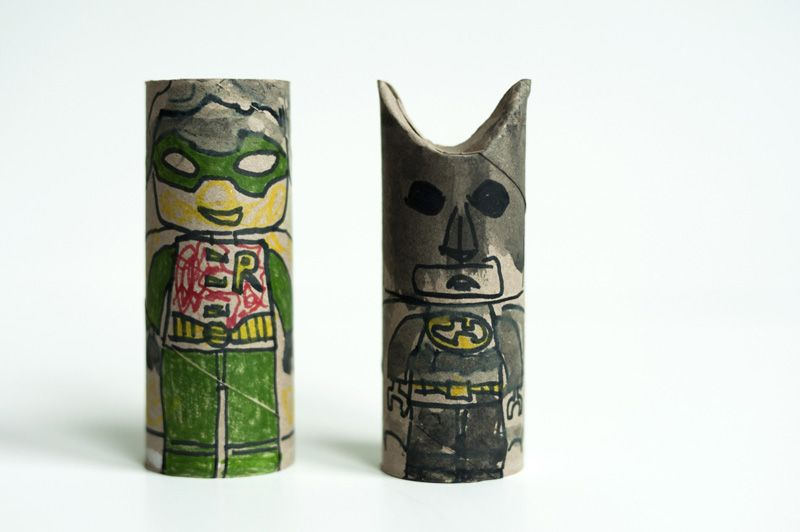 Made by Joel - Batman and Robin Paper Rolls    ;)
